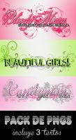 Textos PNG - Pack 1 by LoveDanceFlawless