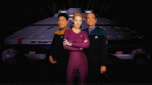 Star Trek Voyager Harry, Seven and The Doctor V2 by Dave-Daring