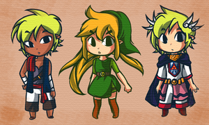 Tetro, Lin and Prince Zelda by tellie-tale