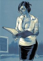 well endown secretary by pin-up-corner-shop