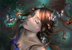 Mother of butterflies by Aoleev