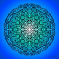 Mandala Drawing 21 BLUE by Mandala-Jim