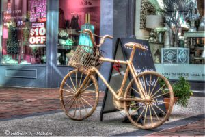Wood Bicycle... by Al-Msafer