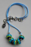 Blue Pangolin Party Necklace by Athalour