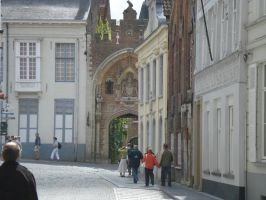 Bruges27 - Street and Arch by Lutra-Gem
