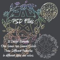 21 Pagan PSD Design Elements by briarmoon-stock