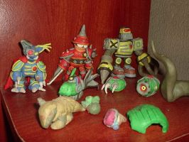 Clay Evil Robot Horde by FoxRichards