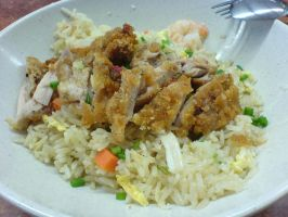 Chicken Cutlet Fried Rice by WaZzUpGaL