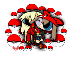 PC -  May and Blaziken by 6ninjafox9