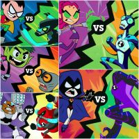 Teen Titans vs Ben 10 by JSH66XX