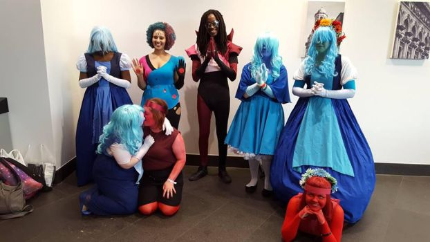 SU - Sapphires, Rubys and Garnets Cosplay by LupiViri