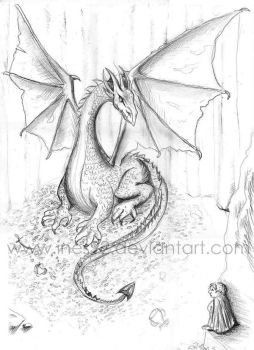 Smaug - sketch by Ines92