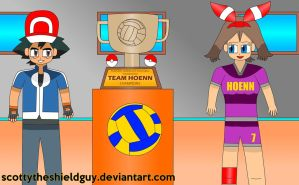 Ash and May goes Pokemon Volleyball Champ by scottytheshieldguy