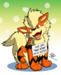 Pokemon Shaming Arcanine by Coshi-Dragonite
