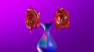 Vase with roses by BGai