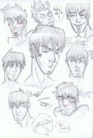 Kurtis' face sketches by WildKurtisTrent