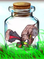 Axel in  bottle xD by VerbbyShadow