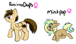 RosainaDrops and MintPop Ref by lonely-galaxies