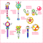 Confection Cuties Power Items Chart Pixel Version by Blossom-Storm
