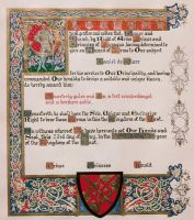 Illuminated SCA award of arms by dracoscriptorum