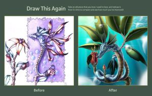 Contest Entry One: Flower Dragon by IIIustrathor