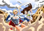 Power Girl Vs Mary Marvel - Clash by adamantis