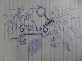 emo style-on my note :D by 8melancholy-girl8