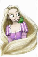 Rapunzel, Rapunzel -color- by MelanieGracey