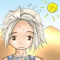 Vaan and the desert by linzi-chan