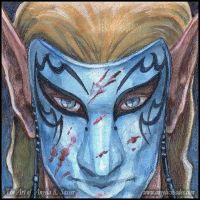 Mini Painting - Mask of the Traitor by AngelaSasser