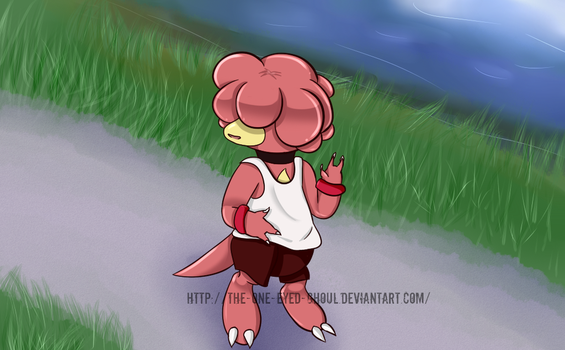 Going For A Jog by The-One-Eyed-Ghoul