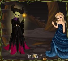 Maleficent and Princess Aurora. by Katharine-Elizabeth