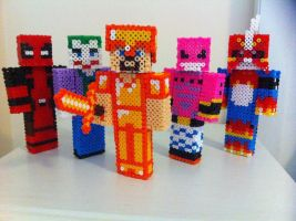 3d perler people by Rest-In-Pixels