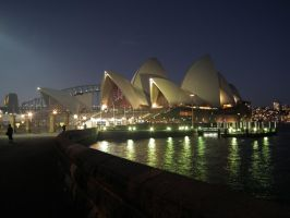 Sydney Opera House by night by BrendanR85