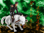 Kiba and Akamaru by nirvana019