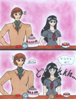 Kagami and Rei Cake by Gaaraismybf