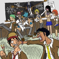 One Piece - School Dayz by Zulium