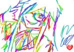 Rainbow Grell Drawn on 3DS by maneatingrainbows