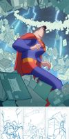 Superman cover debut! by cheeks-74