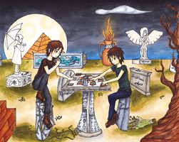 ... And Now We Play Cards by lost-beyond-reason