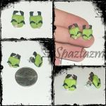 happy gir squinting earrings by spaztazm