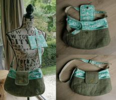 Burlap purse - Indian inspired by meplushyou