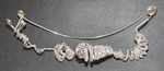 Silver Crystal Hair Clip by YewTree