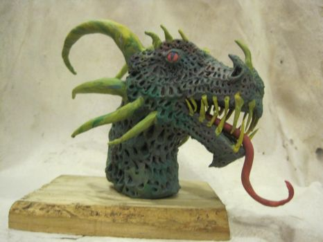 Modeling Clay Dragon bust by angrygerman30166