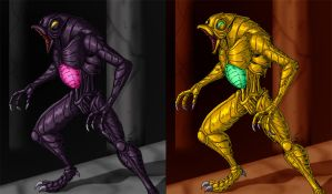 Super Metroid Torizos by crovirus