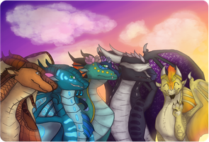 We Are The Dragonets of Destiny (Redraw) by StarstruckDoodles