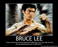 Motivational Poster: Bruce Lee by the-shadowwolf
