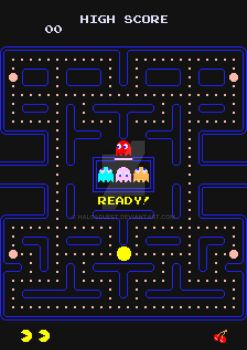 Retro Video Game Poster: Pac-Man by halo4guest