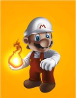 Fire Mario by M-Thirteen