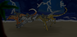 Cheetah Queens trough the storm by Forget-Me-Not-Fields